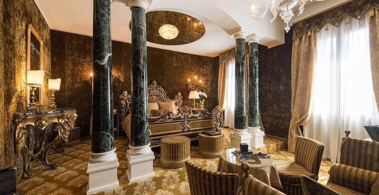 La suite desiderio dell'Hotel Metropole di Venezia.