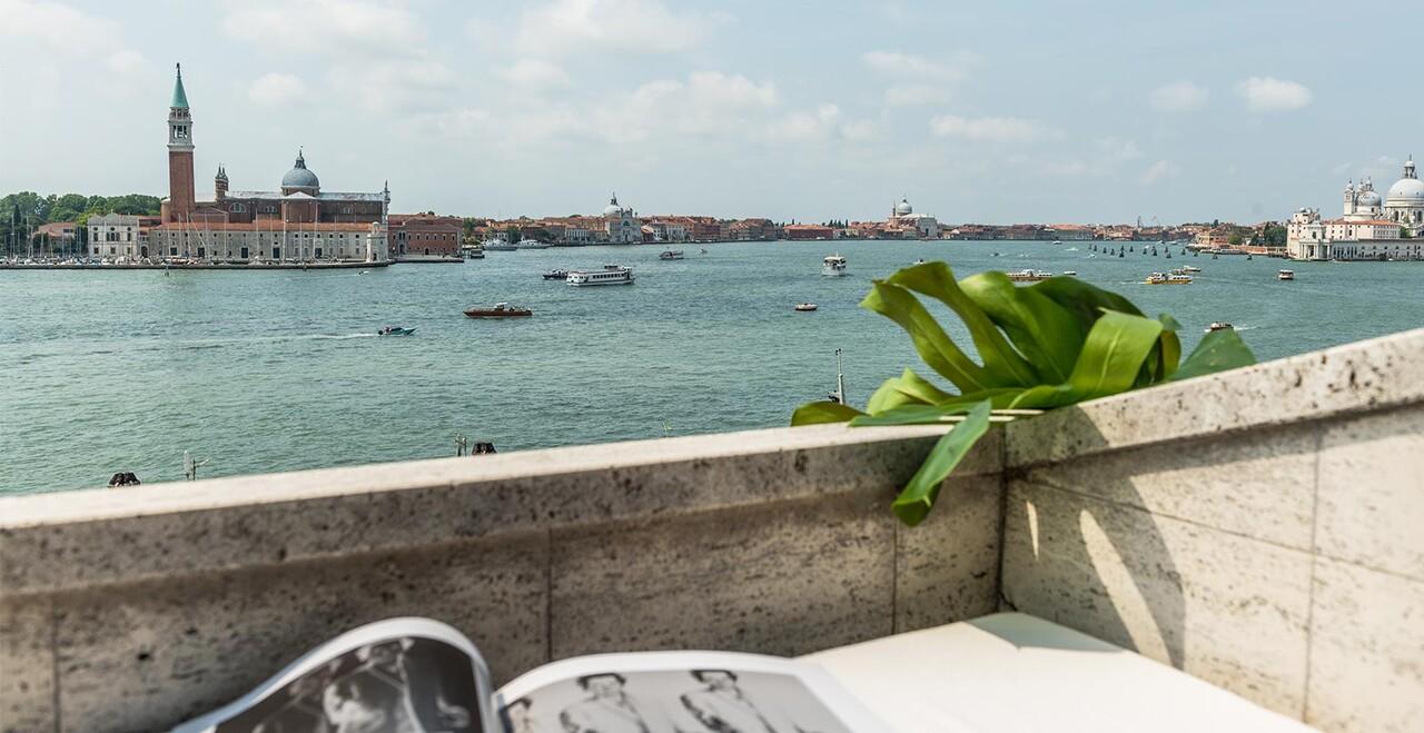 La vista panoramica dell'Hotel Metropole a Venezia.