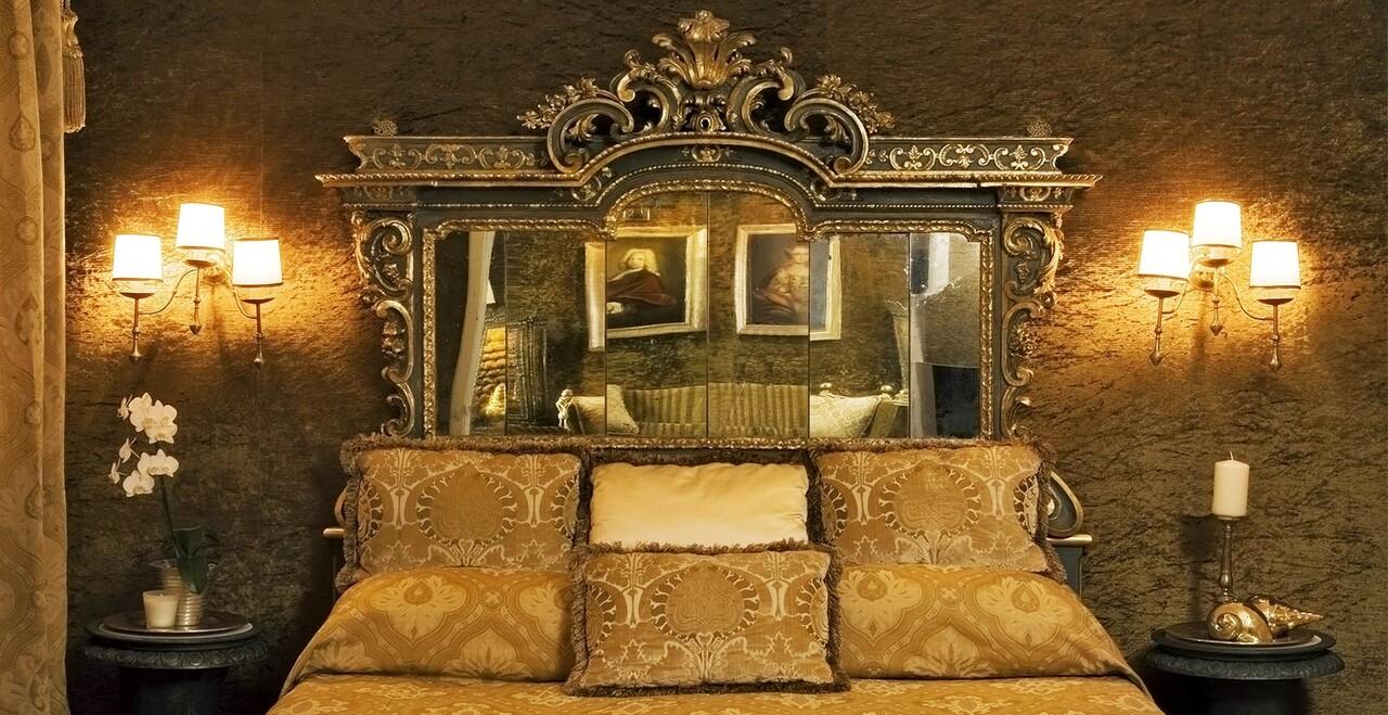 La suite di lusso dell'Hotel Metropole a Venezia.