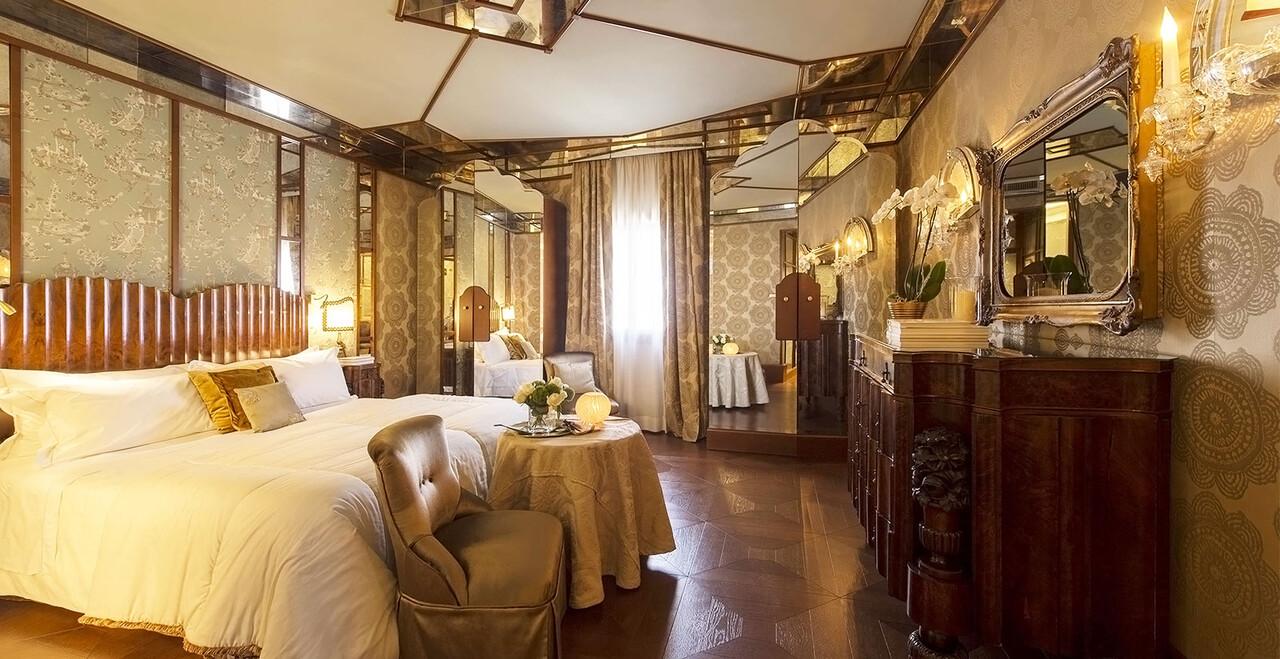 La suite lussuosa a Venezia dell'Hotel Metropole.