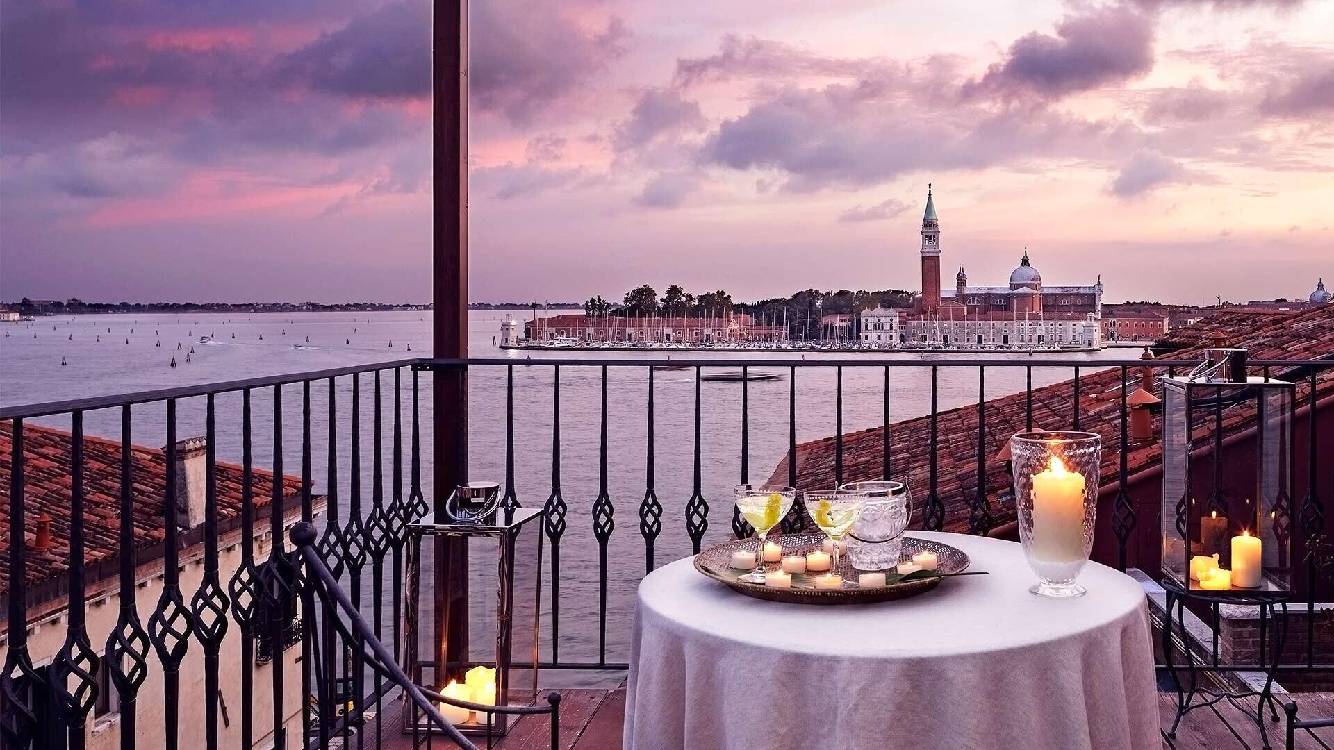 La vista panoramica su Venezia dell'Hotel Metropole.