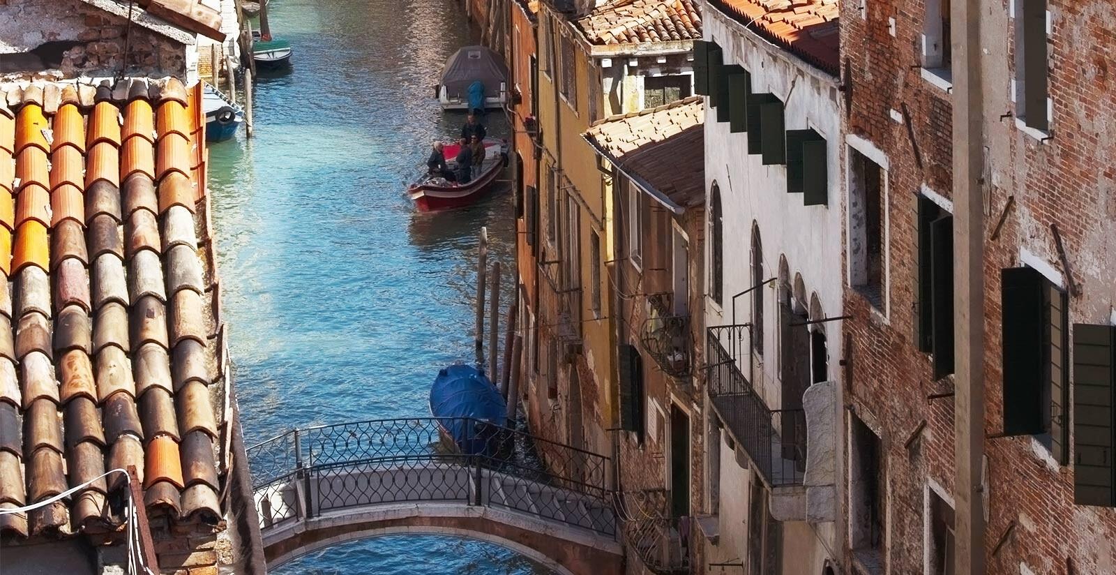 Vista nel centro di Venezia dell'Hotel Metropole.
