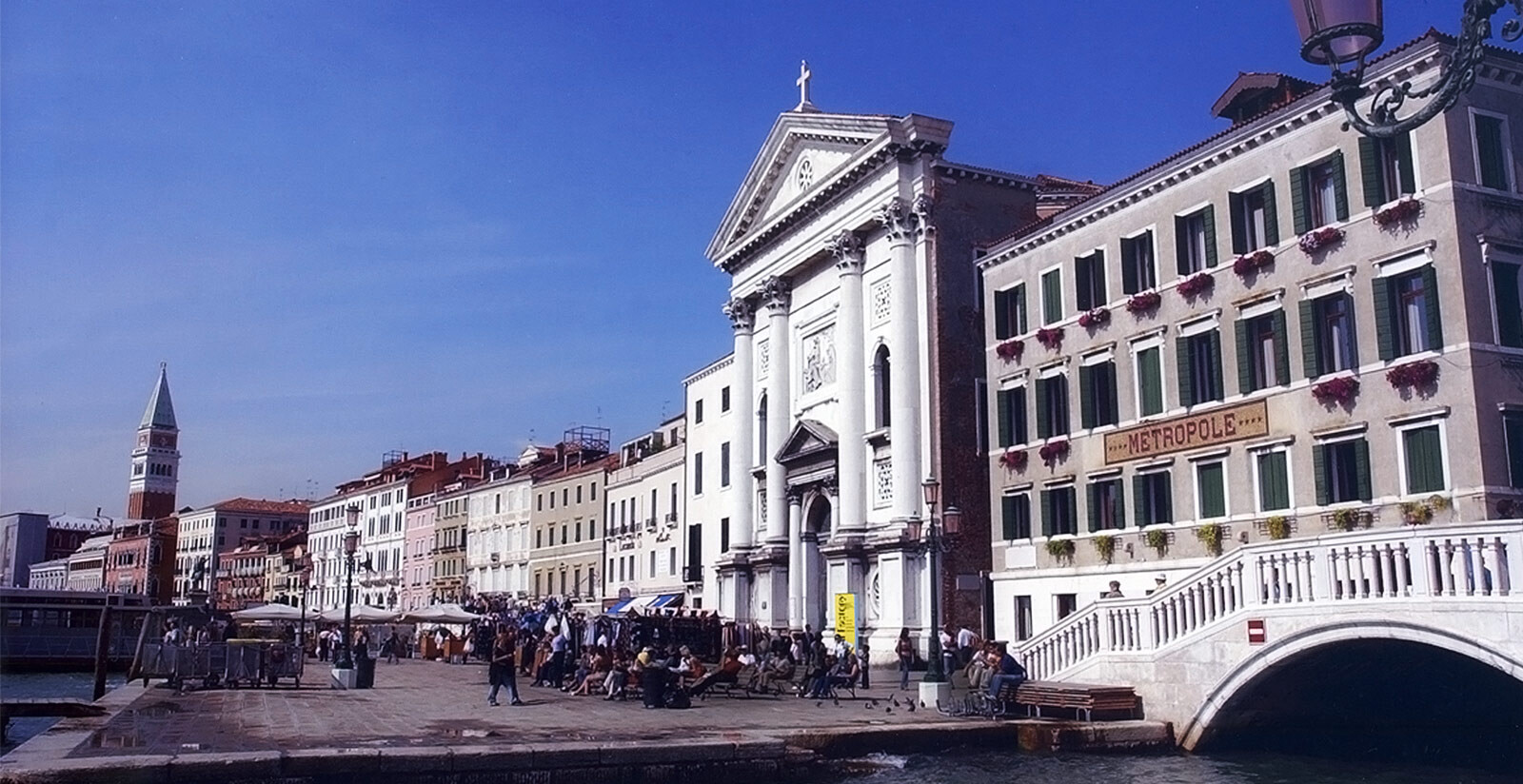 L'Hotel Metropole di Venezia in Riva degli Schiavoni.