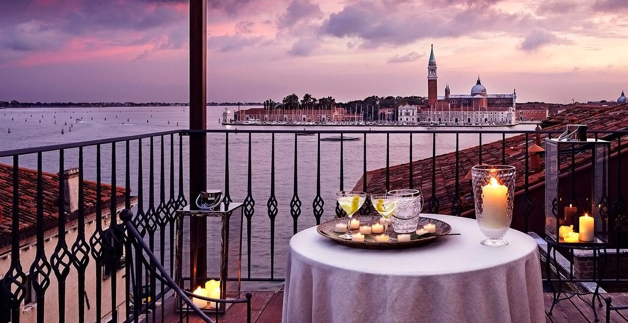 La vista panoramica a Venezia dell'Hotel Metropole.